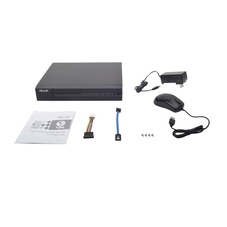 Videovigilancia - DVR Videograbadores analógicos - DVR 1080p Lite pentahíbrido HiLook. 4 canales analógicos TurboHD. 1 canal IP. 1 bahía de disco duro. H.264+. 1 canal de audio. Salida de video Full HD.